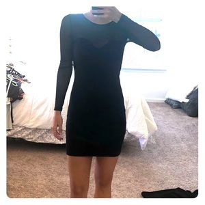 Forever 21 Little Black Dress with Sleeves
